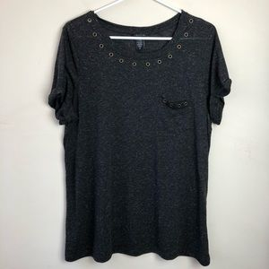 Torrid Plus Size 2 2X Cuffed Short Sleeve Shirt